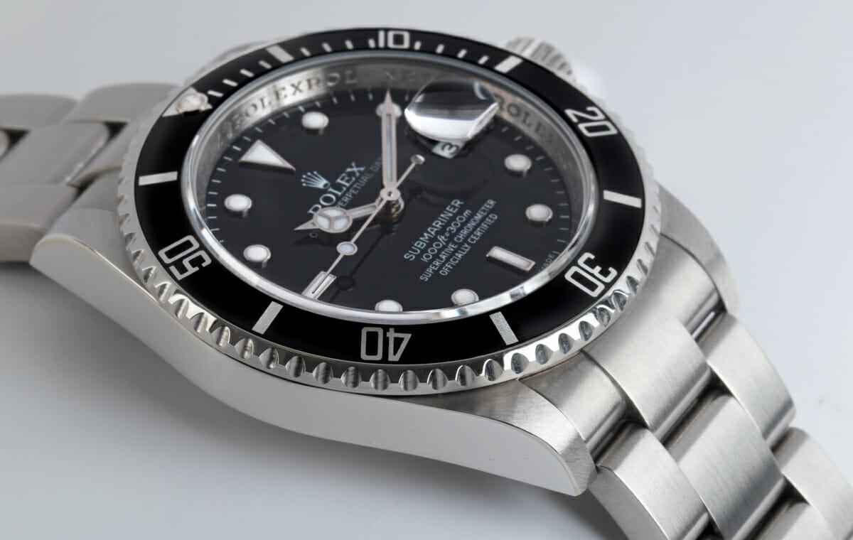 9' Side Shot of Submariner Date - never polished