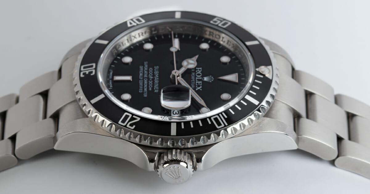 Crown Side Shot of Submariner Date - never polished