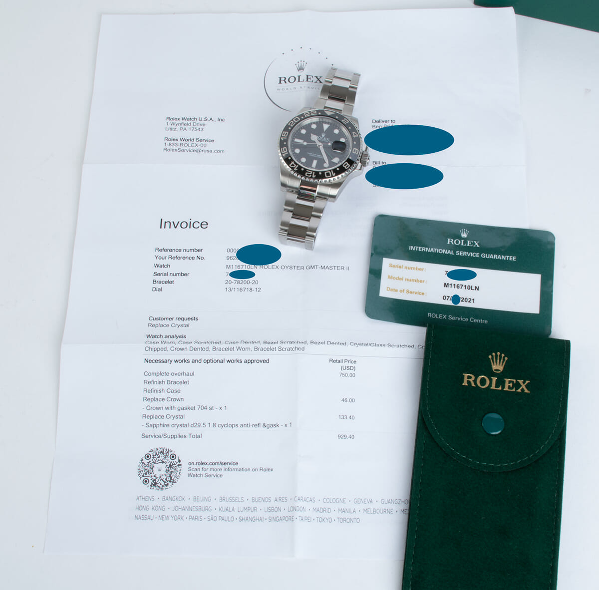 Extra Included Items of GMT-Master II