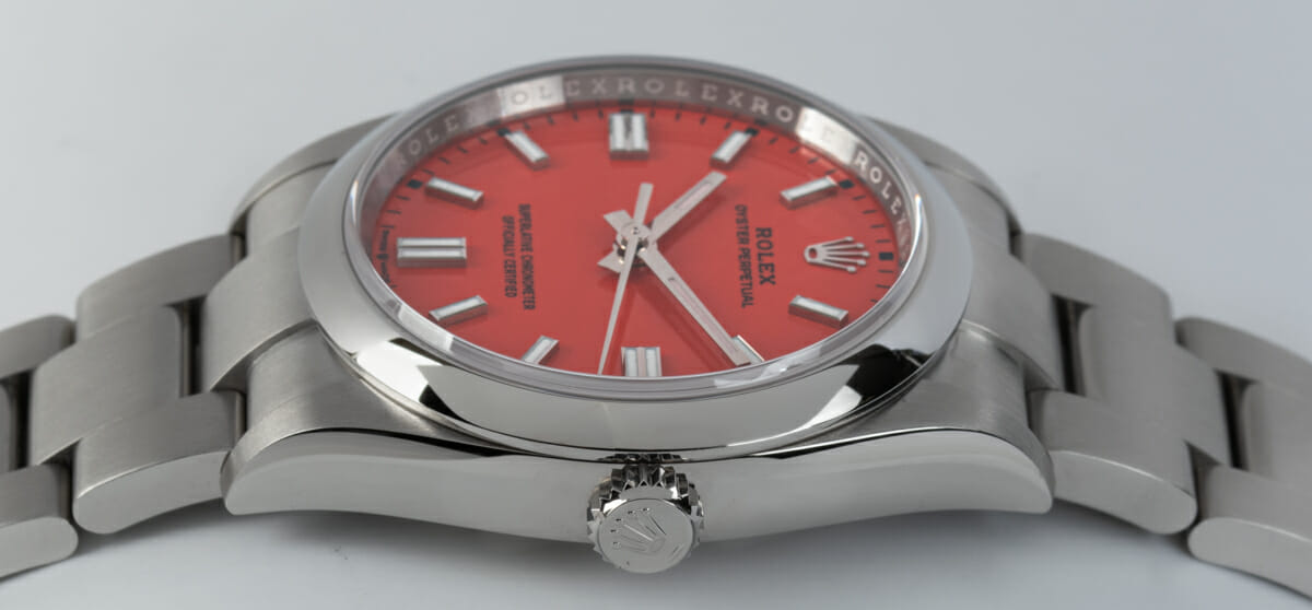 Crown Side Shot of Oyster Perpetual 36