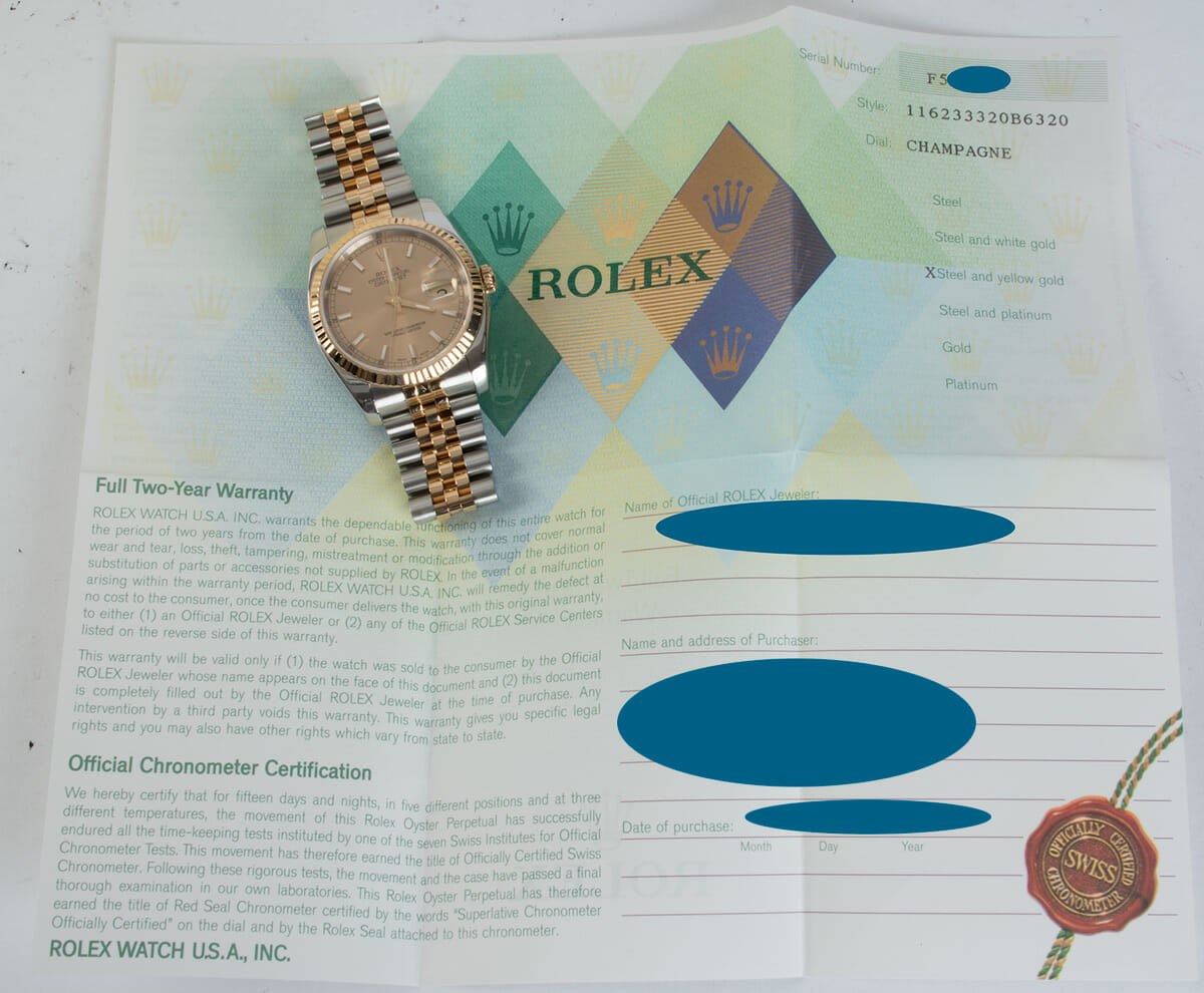 Paper shot of Datejust 36
