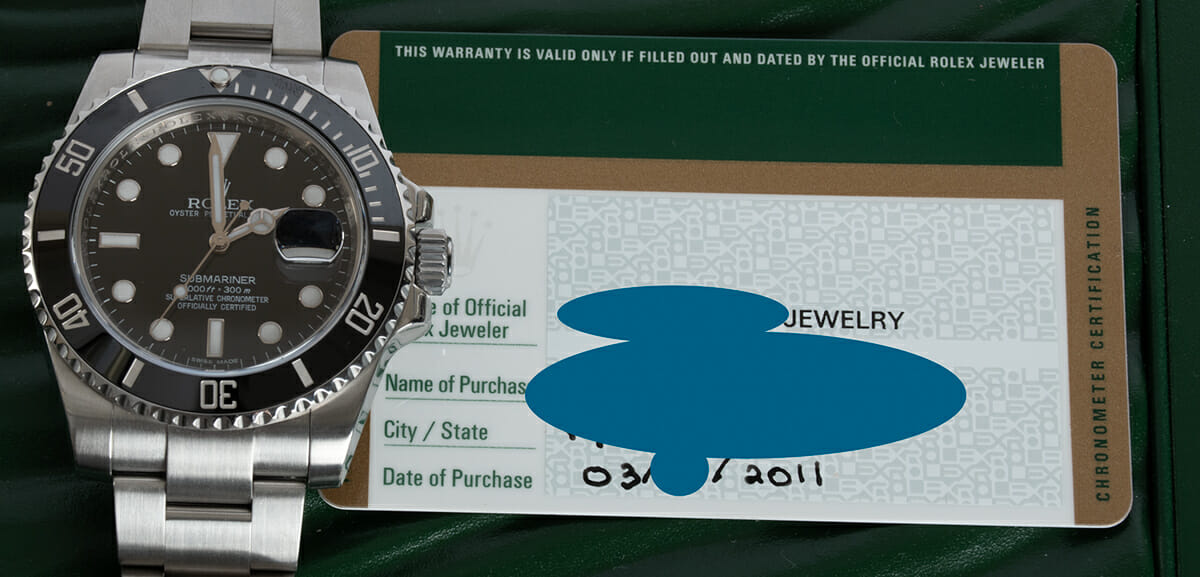 Paper shot of Submariner Date