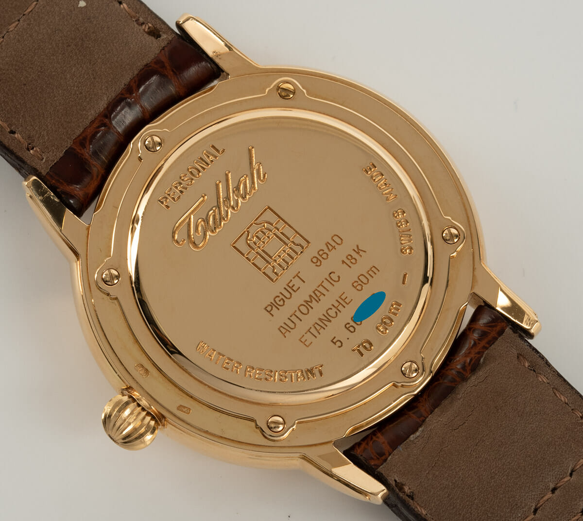 Caseback of Personal Power Reserve