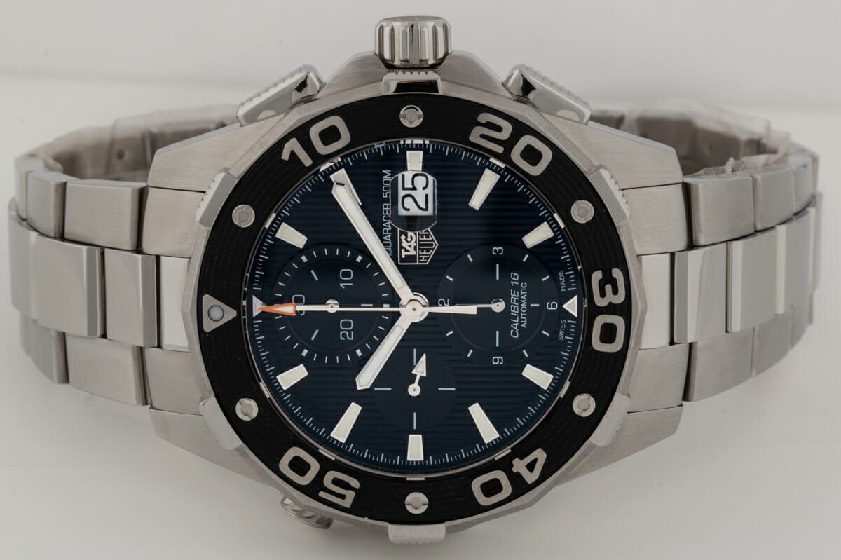 Front View of Aquaracer 500m Chronograph