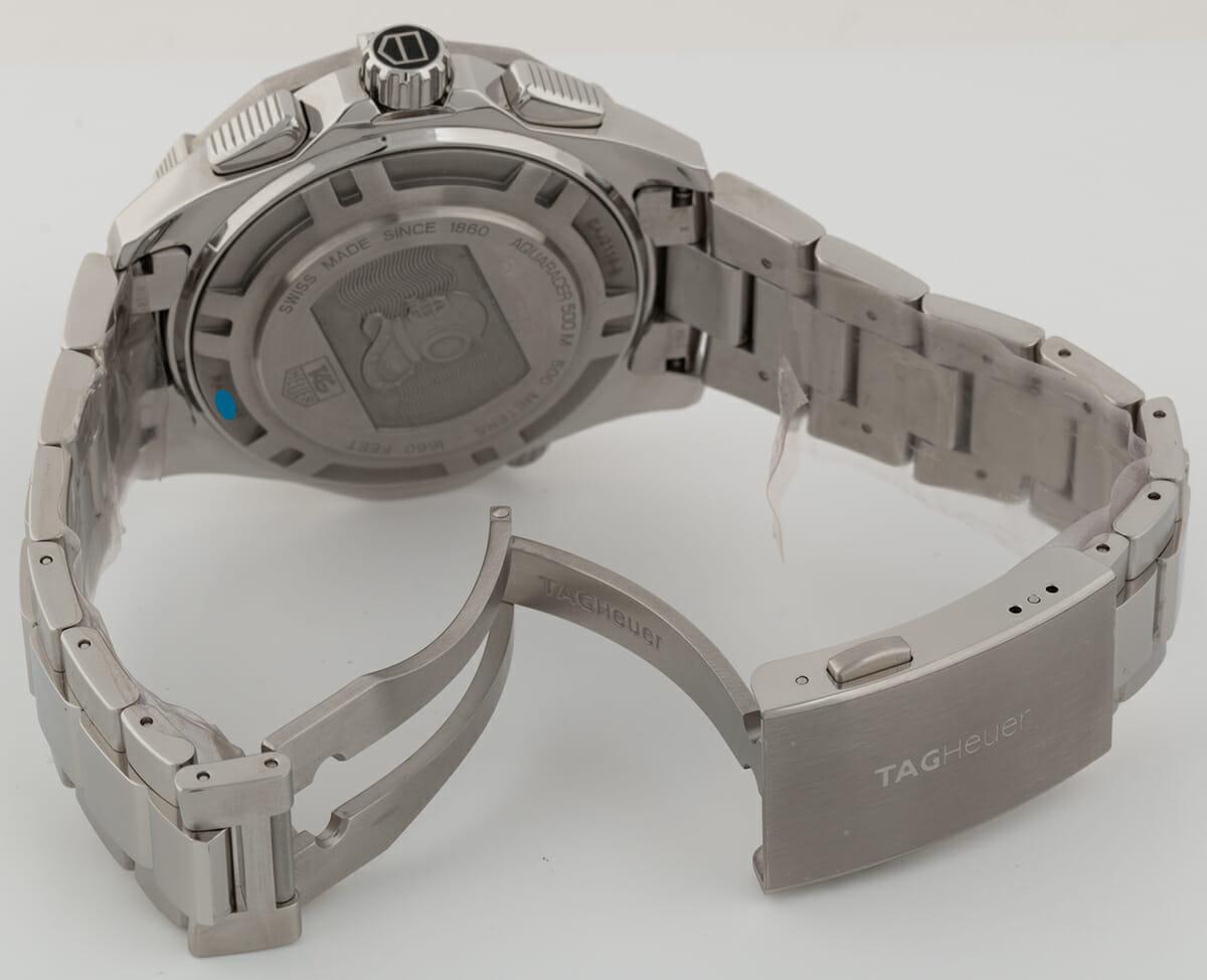 Open Clasp Shot of Aquaracer 500m Chronograph