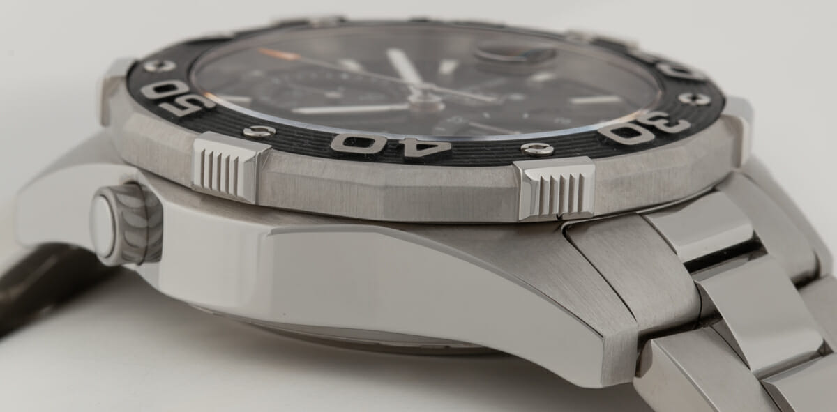 9' Side Shot of Aquaracer 500m Chronograph