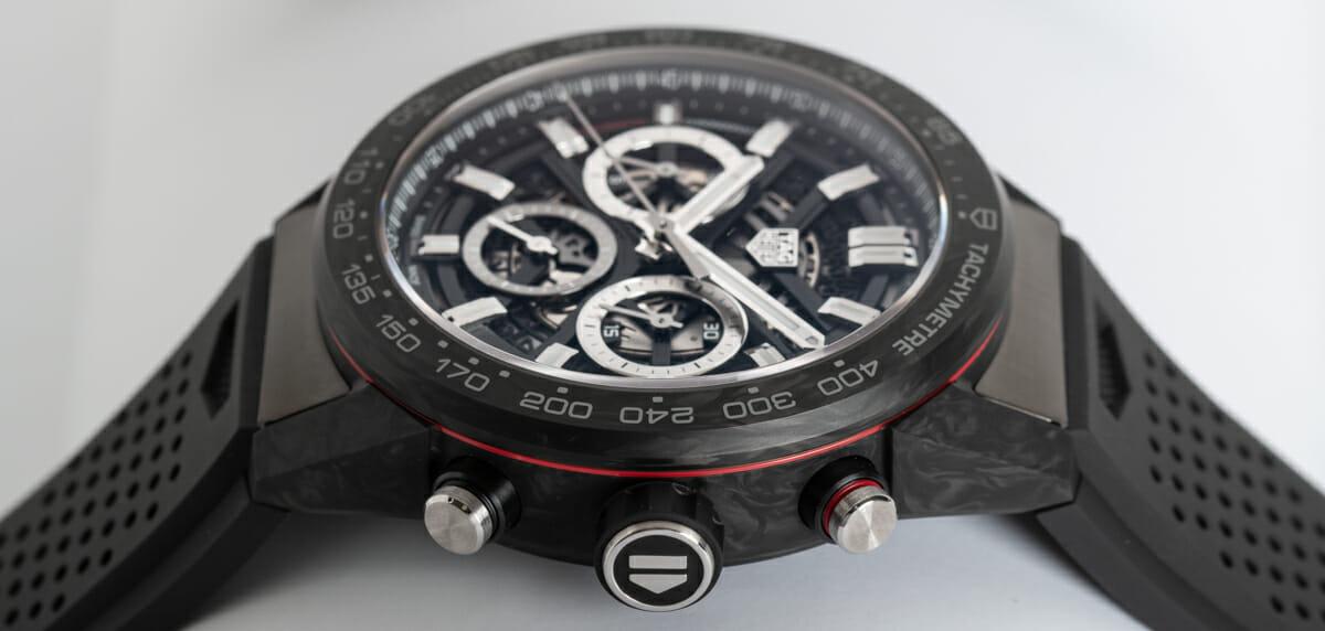 Crown Side Shot of Carrera Chronograph