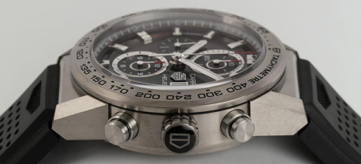 Crown Side Shot of Carrera Calibre Heuer 01