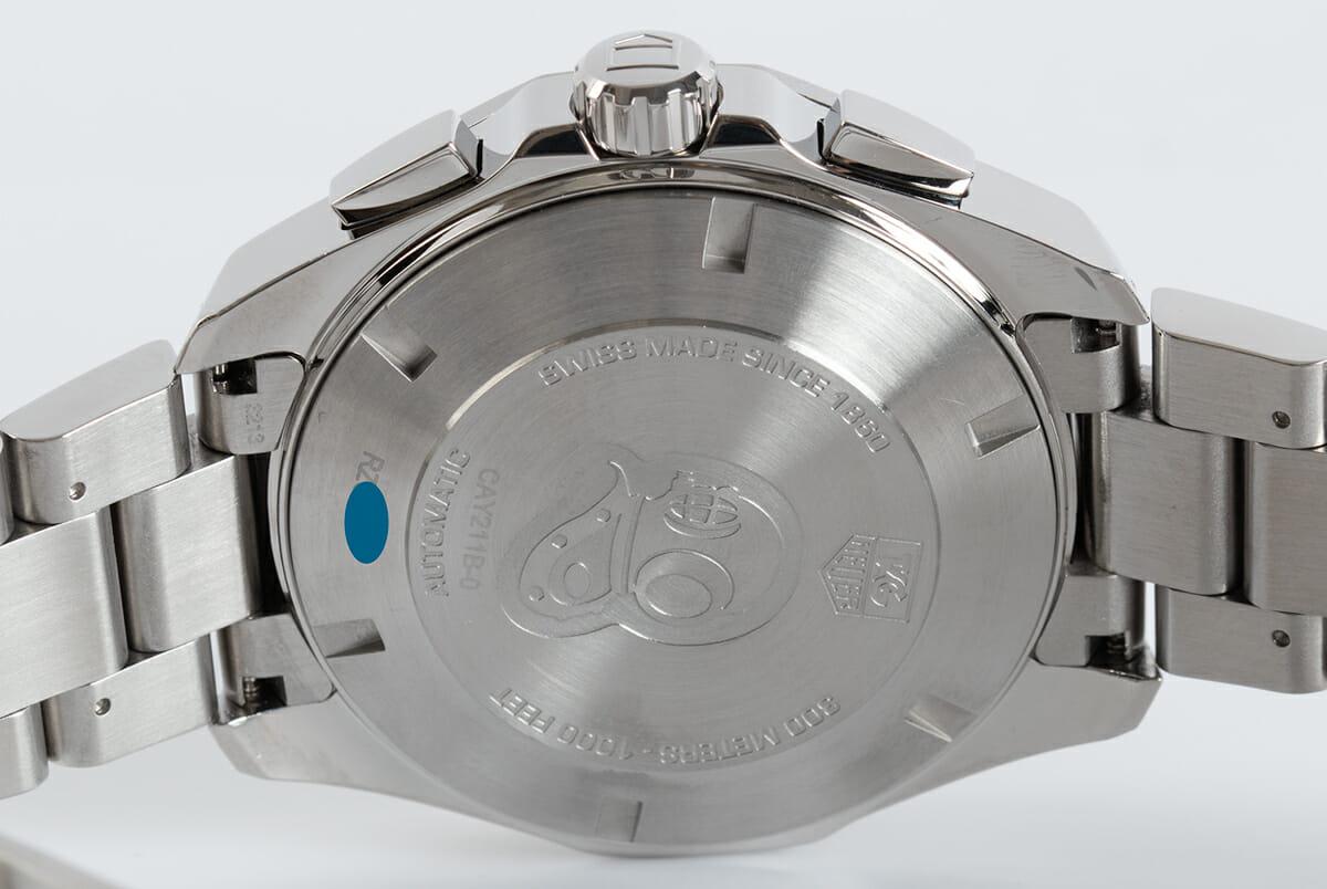 Caseback of Aquaracer Chronograph Calibre 16