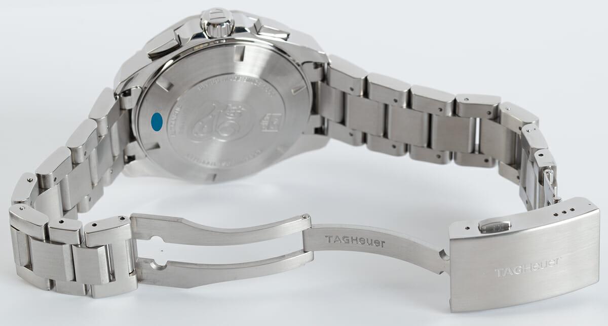 Open Clasp Shot of Aquaracer Chronograph Calibre 16