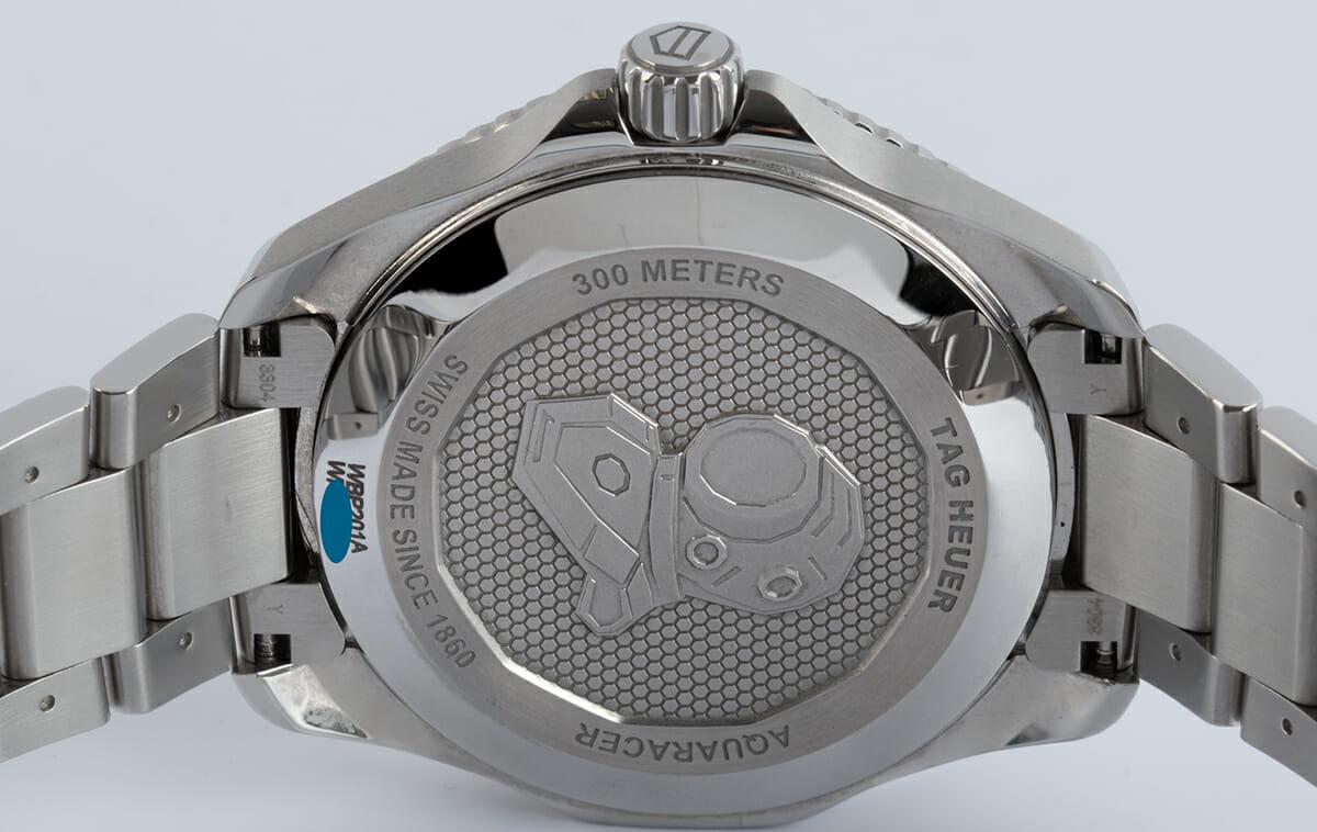 Caseback of Aquaracer Professional 300