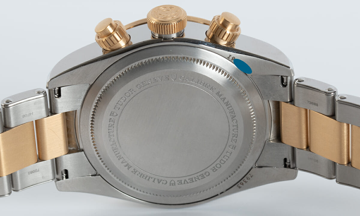 Caseback of Heritage Black Bay Chronograph S&G