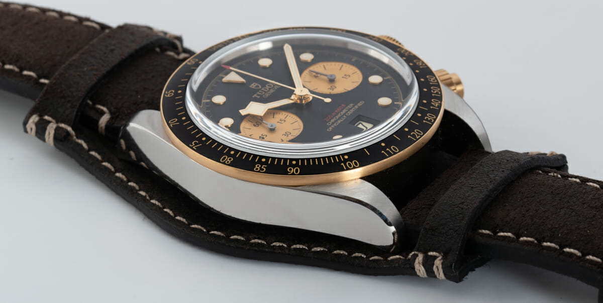 9' Side Shot of Heritage Black Bay Chronograph S&G