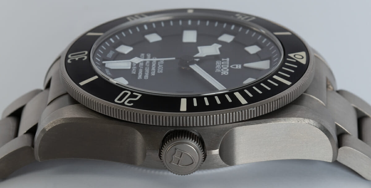 Crown Side Shot of Pelagos Chronometer