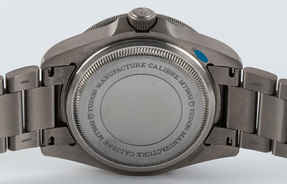 Caseback of Pelagos Chronometer
