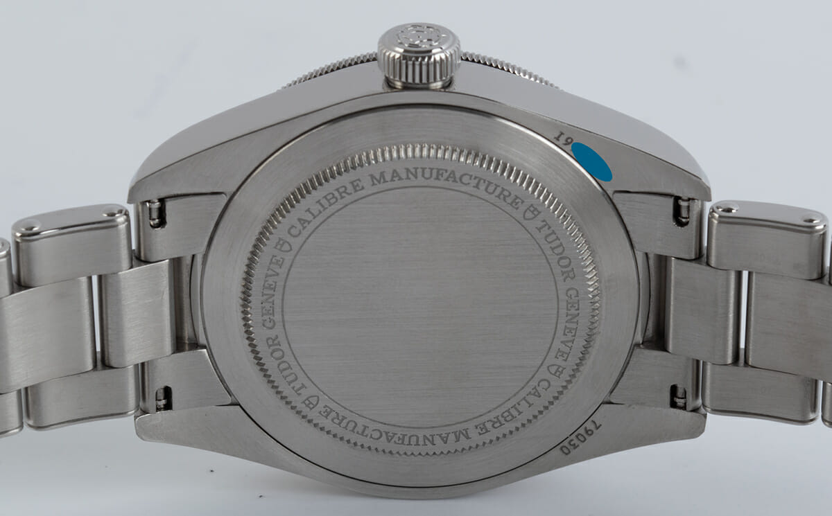 Caseback of Black Bay Fifty-Eight
