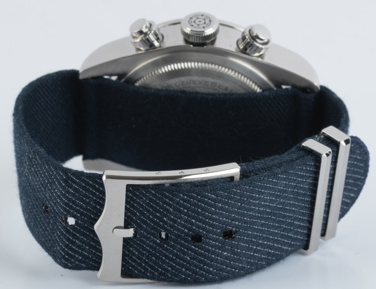 Rear / Band View of Heritage Black Bay Chronograph