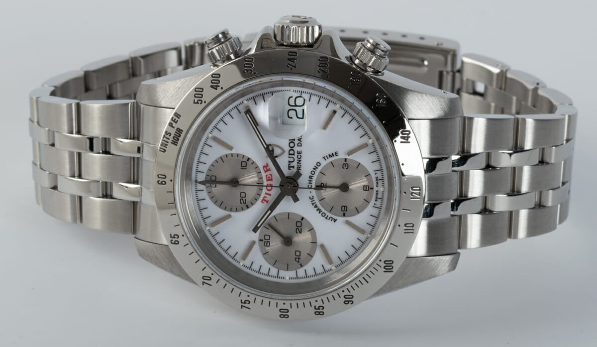 Front View of Prince Date Chronograph