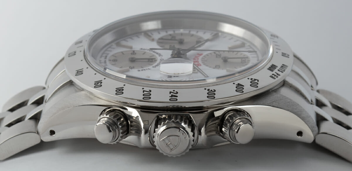 Crown Side Shot of Prince Date Chronograph