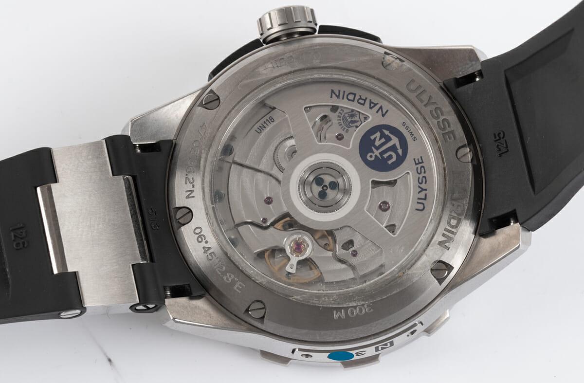 Caseback of Diver Chronometer 44mm