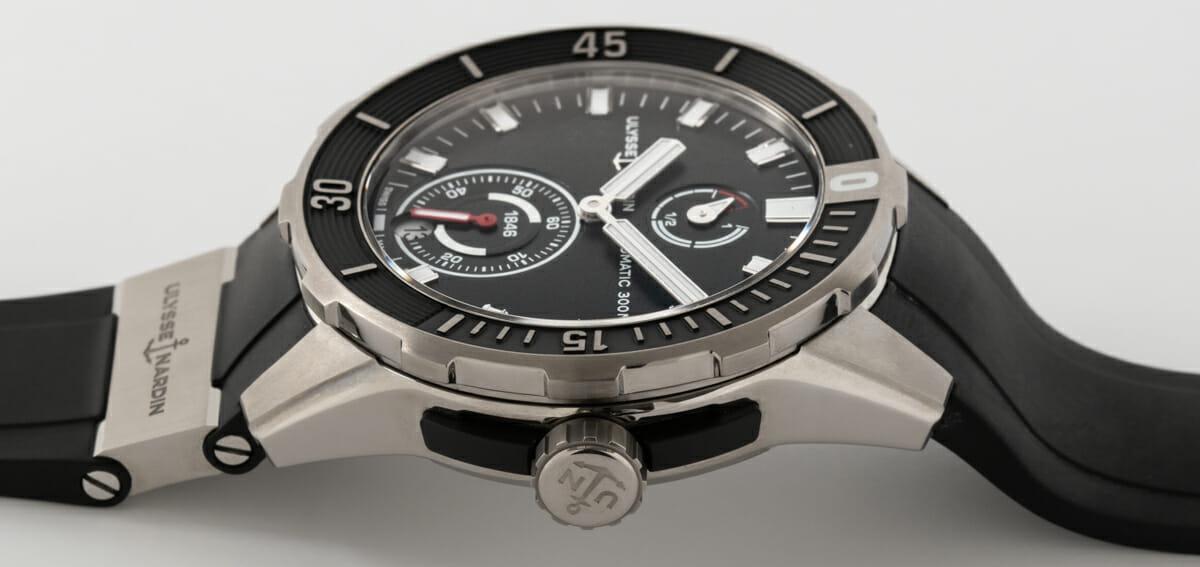 Crown Side Shot of Diver Chronometer 44mm